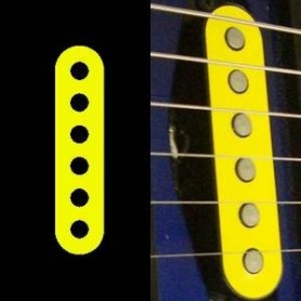 Sticker guitare micro simple jaune