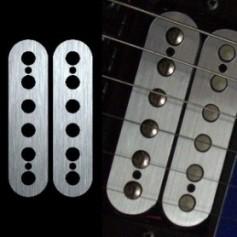 Sticker guitare micro humbucker métal pour espacement 50mm