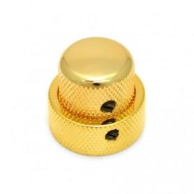 Double bouton à vis 25x19 doré