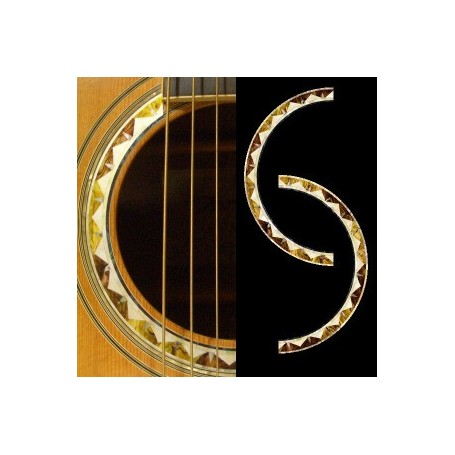 Sticker guitare rosace santafe acoustique