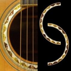 Sticker guitare rosace santafe acoustique