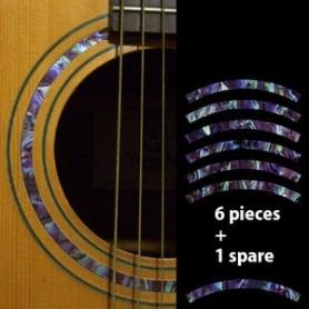 Sticker guitare rosace decoupe violet