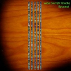 Sticker guitare baton baton 3mm bleu abalone