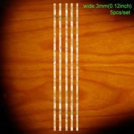 Sticker guitare baton baton 3mm blanc abalone
