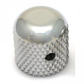 Bouton dôme à vis 19mm chrome