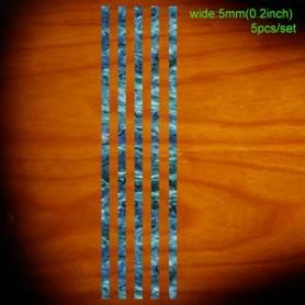 Sticker guitare baton baton 5mm bleu abalone