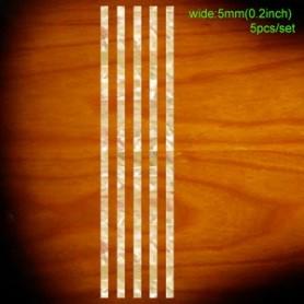 Sticker guitare baton baton 5mm blanc abalone