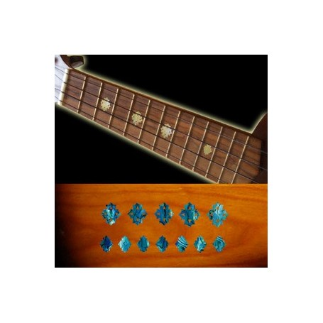 Sticker guitare ukulele diamants bleu abalone