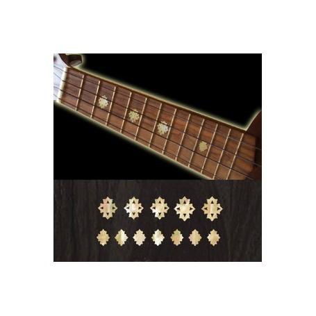 Sticker guitare ukulele diamants blanc abalone