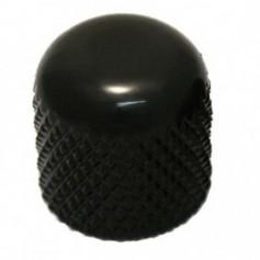 Bouton dôme à vis noir 19mm - 6.30mm
