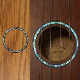 Sticker guitare ukulele rosace bleu abalone soprano