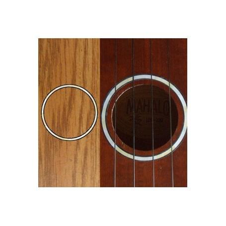 Sticker guitare ukulele rosace blanc abalone concert