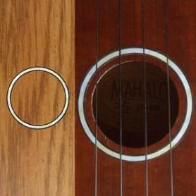 Sticker guitare ukulele rosace blanc abalone soprano