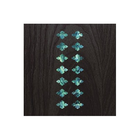 Sticker guitare ukulele diamant carre bleu abalone