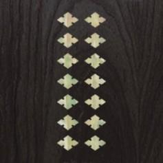 Sticker guitare ukulele diamant carre blanc abalone