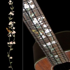 Sticker guitare ukulele vegetal hummingbird concert