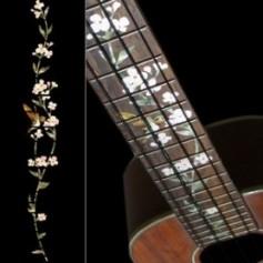 Sticker guitare ukulele vegetal hummingbird concert