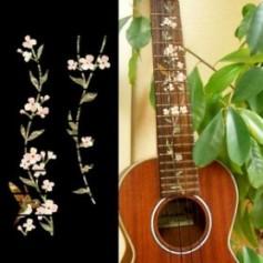 Sticker guitare ukulele vegetal hummingbird tenor