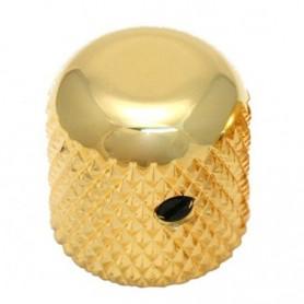 Bouton dôme à vis 19mm doré