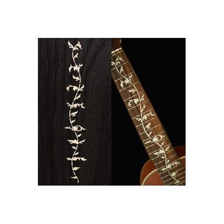 Sticker guitare ukulele vegetal blanc abalone concert