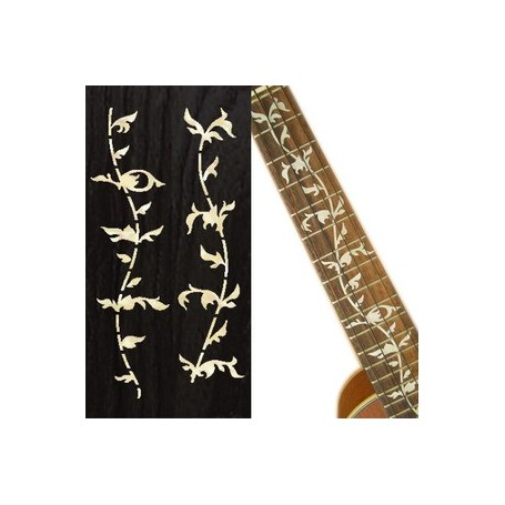 Sticker guitare ukulele vegetal blanc abalone tenor