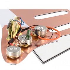 Plaque électronique guitare optimisée blanche Stratocaster® US