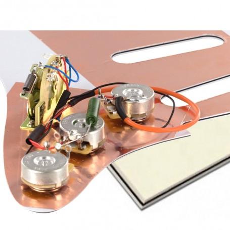 Plaque électronique guitare optimisée vieux blanc Stratocaster US