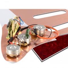 Plaque électronique guitare optimisée tortoise rouge Stratocaster US
