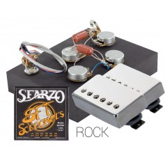 Pack kit éléctronique copie LesPaul 3 positions - Micros Gn'B Rock chrome - Cordes Sfarzo 10-46