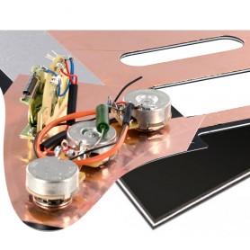 Plaque pré-câblée optimisée HSS noire Stratocaster® US