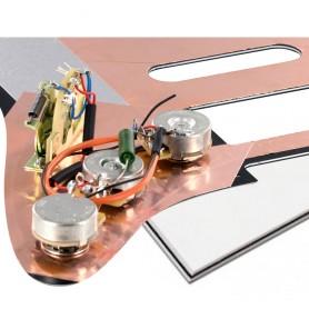 Plaque pré-câblée optimisée HSS blanche Stratocaster® US