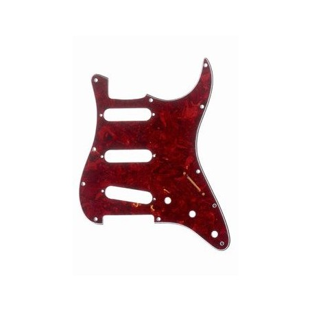 Plaque 3 micros simples Stratocaster® US rouge tortoise