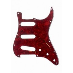 Stratocaster Pickguard SSS US 3 plis rouge tortoise