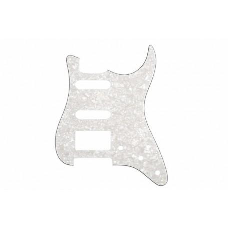 Plaque 1 micro double & 2 simples Stratocaster® US blanc nacré