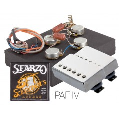 Pack kit éléctronique copie LesPaul® 6 positions - Micros Gn'B PAF nickel - Cordes Sfarzo 10-46