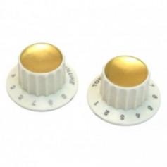 lot 2 boutons harmony® rocket vieux blanc - dore 1 vol + 1 tone