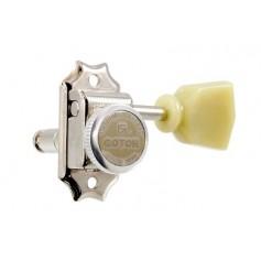 Mécaniques à blocage Gotoh SD90 3x3 vintage tulipe Lespaul® nickel