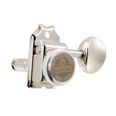 Mécaniques à blocage Gotoh® SD91 6 en ligne vintage Stratocaster nickel