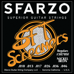 Cordes guitare électrique Sfarzo® SFT regular 10-46