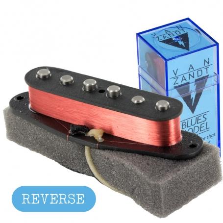 Micro Van Zandt® Stratocaster® Blues RWRP Reverse