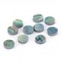 10 repères de touche green abalone 6mm