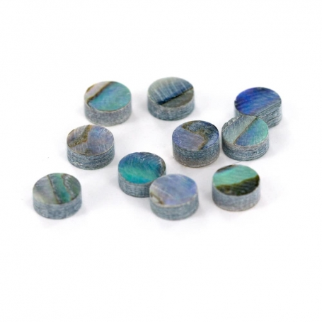 10 repères de touche green abalone 4mm