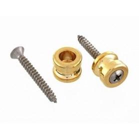 2 boutons pour attache sécurité Schaller doré