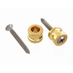 2 boutons pour attache sécurité Schaller® doré