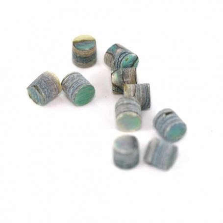 10 repères de touche green abalone 2mm
