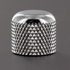 Bouton plastique dôme chrome 19mm sans vis
