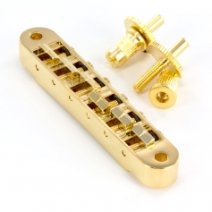 Chevalet tune-O-matic guitare petits inserts doré
