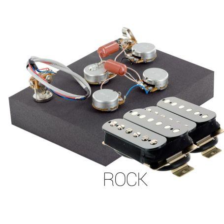 Pack électronique copie LesPaul 3 positions - Micros Rock noir