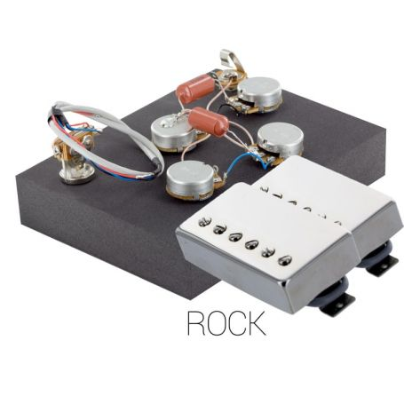 Pack électronique copie LesPaul 3 positions - Micros Rock chrome