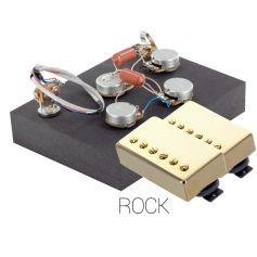Pack électronique copie LesPaul 3 positions - Micros Rock doré